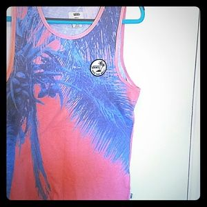 Vans off the Wall Pink Sunset Tank Top
